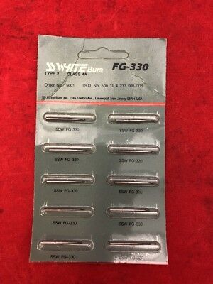 NEW PACK OF 10 SS WHITE FG-300 Excavating Dental Carbide Burs Pear Shaped 15001