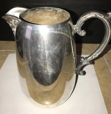 Wm. Rogers silver water pitcher Silver Iris hollowware 917 Antique Beautiful