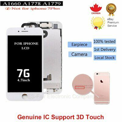 For iPhone 7 Replacement Digitizer LCD Touch Screen White with Front Camera CA