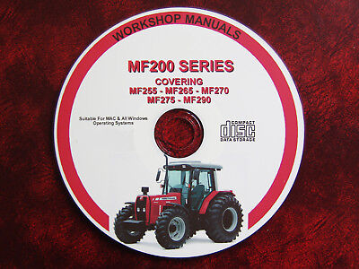 Massey Ferguson Mf200 Series 255 265 270 275 290 Workshop Service Repair Manual
