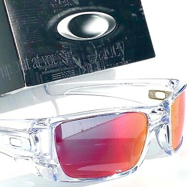 69d5670f24 NEW  OAKLEY FUEL CELL Crystal CLEAR w RUBY Torch Iridium lens Sunglass  oo9096-86