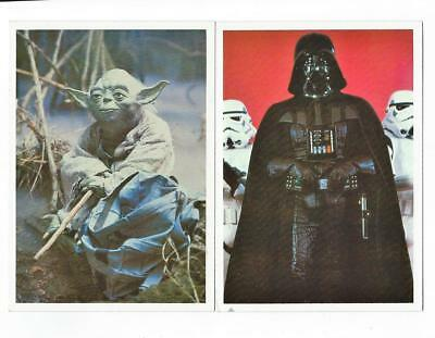 STAR WARS Empire Strikes Back GIANT PHOTOCARDS Lot of 2 DARTH VADER, YODA