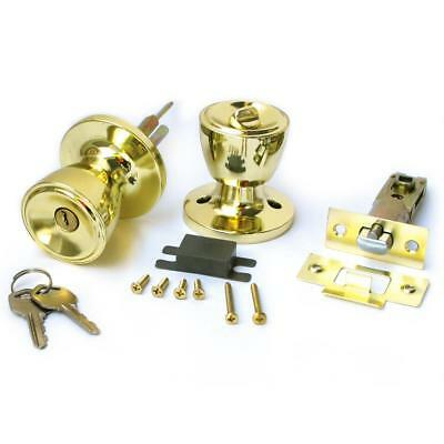 Gold Color Tulip Type Keyed Entry Rotation Door Knobs Handle Entrance Lock