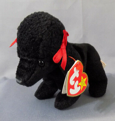 TY Beanie Baby GIGI the poodle dog Retired 1998 with errors/oddities