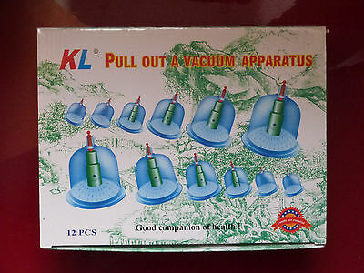 12 Cups Cupping Kit Massage Vaccum Body Health Therapy Hijama Sunnah Pain Cure