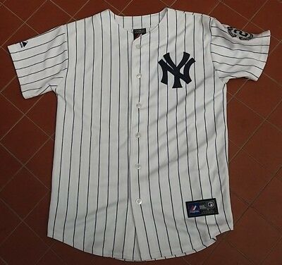MLB Majestic New York Yankees NY Derek Jeter 2 Jersey Youth Size L 14-16