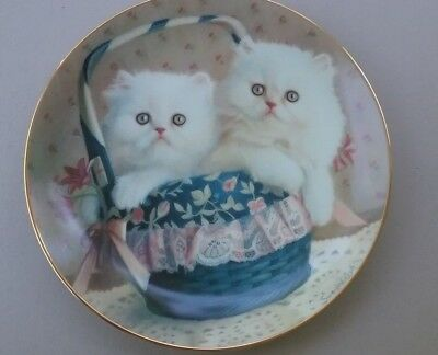 Vintage 1989 Cats /  Kittens Plate American Artists Decorative Plate