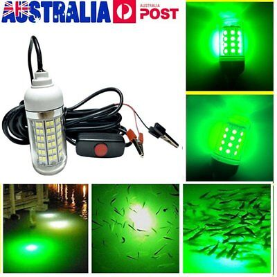 LED 15W Underwater Fishing Light Boat Squid Fish Prawn Waterproof Lamp Lighting