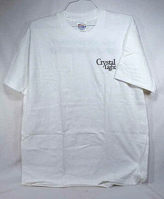 "Vintage Crystal Light ""Reach for Refreshment"" Hanes Cotton T-Shirt - NOS - XL"