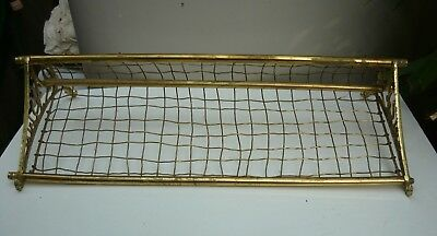 Old solid brass NSW Railways luggage rack in good condition