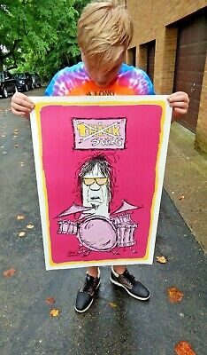 Rare 1970/'s Reese James Poster Think Swing Drummer Pin-Up Swingers Vagabond