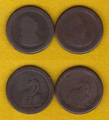 Two 1797 Cartwheel Penny - Low Grade Pair ---  Qkrt
