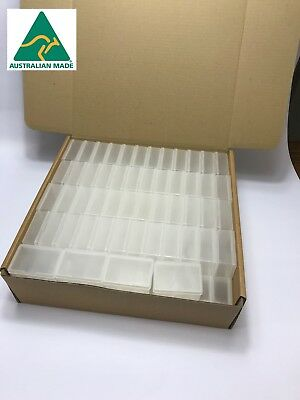 110 x Clear Plastic Mini Storage Containers for Craft Supplies Sewing Beads NEW