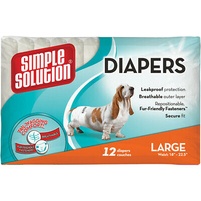 THE BRAMTON COMPANY Simple Solution Disposable Diapers 12 Pack-Large