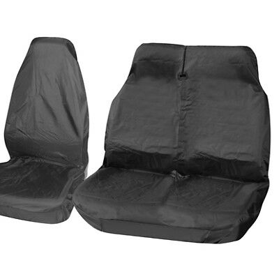 FORD TRANSIT CUSTOM 2016 - Black Van Seat Covers 2+1 LWB MWB SWB 100% WATERPROOF