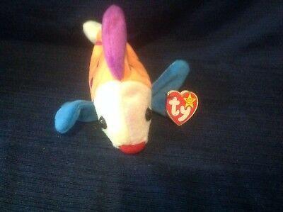TY Beanie Babies Colorful Fish ** LIPS ** 5th Generation New w/ Tag  X