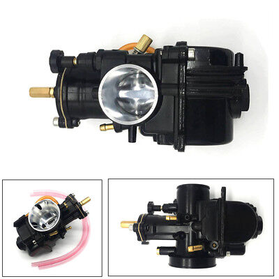 Black 28mm Flat Slide Carburetor For Motorcycle KTM ATV 2Stroke Cycle 80cc-350cc