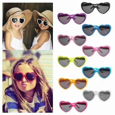 Fashion Heart Shape Sunglass Lovely UV400 Mirror SunGlass Kids Adults Eyewear AU