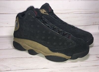 finest selection a6668 886b0 Nike Air Jordan 13 XIII Retro Black Red Olive Size 9 414571-006