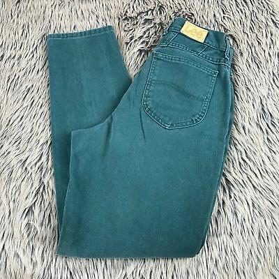 Vtg 80s Colored Lee Green Mom Jeans High Waist USA Womens Tapered Leg Size 10