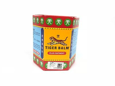 10 Gram TIGER BALM HERBAL PLUS OINTMENT MASSAGE RELIEF MUSCLE PAIN for 3 pack