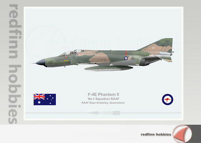 Warhead Illustrated F-4E Phantom II 1 Sqn RAAF 07 Aircraft Print