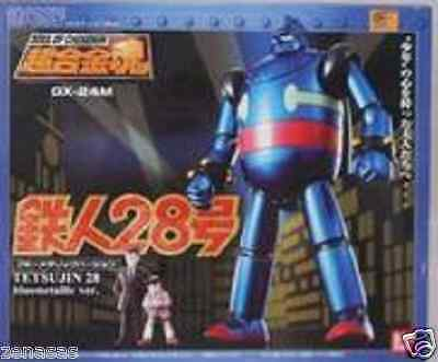 New Bandai Soul of Chogokin GX-24M Tetsujin 28 blue metal version From Japan
