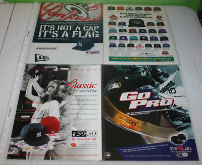 Vintage New Era Snapback Fitted Advertising Print Ad Poster | You Pick