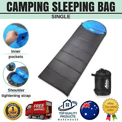 WEISSHORN Envelope Camping Sleeping Bag Single Thermal Tent Hiking Winter -10ºC