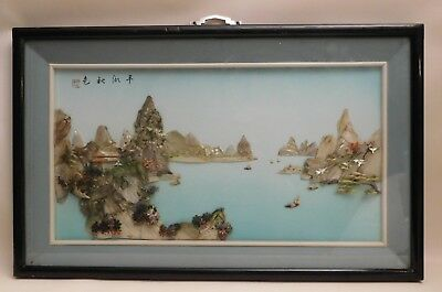 Vintage Asian Shell/Stone 3D Picture