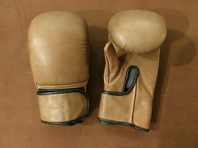 Geoffrey | BOXING BAG PRACTICE GLOVES | OLD SCHOOL VINTAGE | TAN LEATHER