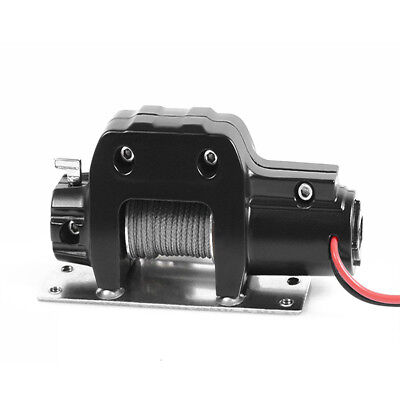 RC Car Metal Electric Winch for 1/10 TRX-4 Axial SCX10 RC4WD D90 D10 /w Remote