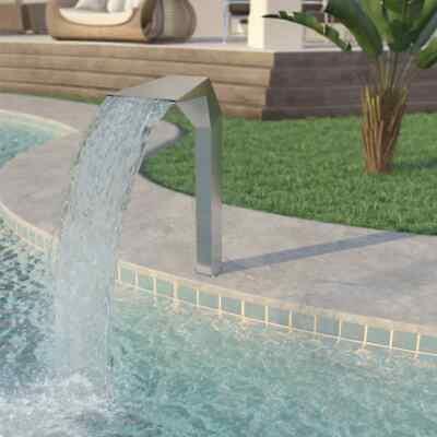 vidaXL Pool Fountain Stainless Steel 50x30x90cm Silver Pond Water Cascade Kit