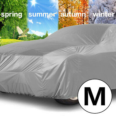 Medium M Universal Full Car Cover Rain/UV/Dust Resistant Protection Breathable