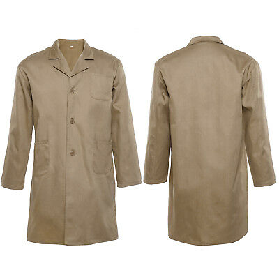 Lab Coat Laboratory Hygiene Food Industry Technician Doctors Medical Coat Khaki