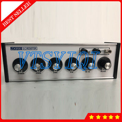 6 Dials DC Bridges Resistance Decade Box Testing Equipment ZX95E