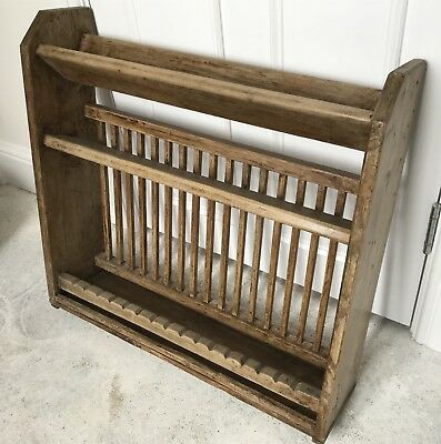 Antique Pine Kitchen Plate Rack Country Kitchen -all sensible offers considered & ANTIQUE PINE Kitchen Plate Rack Country Kitchen -all sensible ...