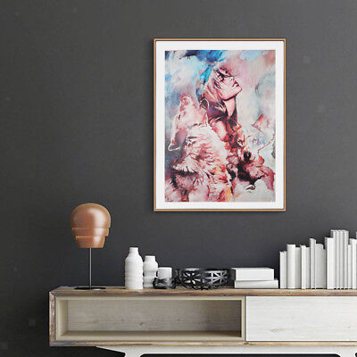Blesiya Abstract Art Painting Oil Print Painting on Canvas Poster Girl Wolf