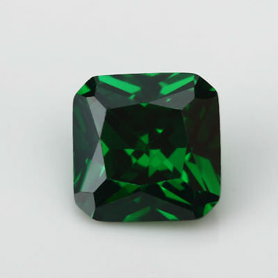 Natural Mined Colombia Green Emerald 3.86CT 8x8MM Cushion Cut AAA VVS Loose Gem