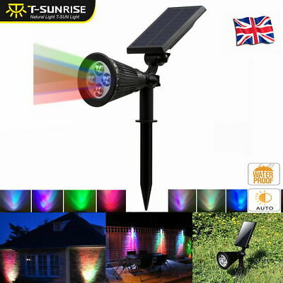 Solar Power Spot Light LED Garden Lamp Outdoor Walkway Lawn Landscape Path US