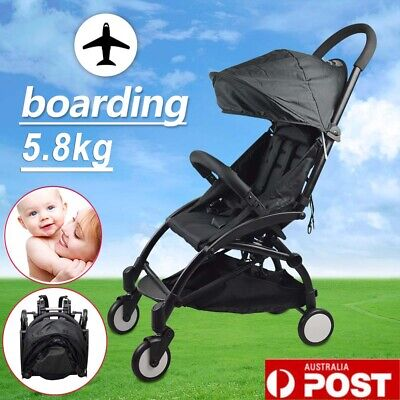 Compact Lightweight Baby Stroller Buggy Pram Easy Fold Travel Carry on Plane