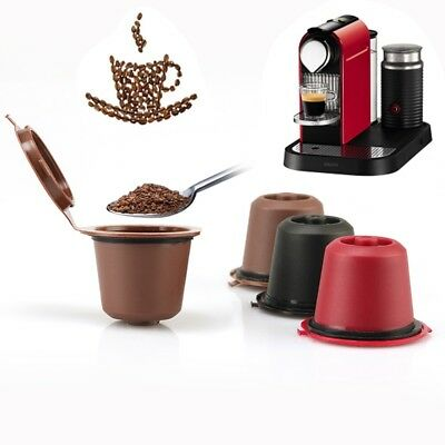 2Pcs Reusable Nespresso Coffee Capsules Filters Refillable Stainless Steel K-Cup
