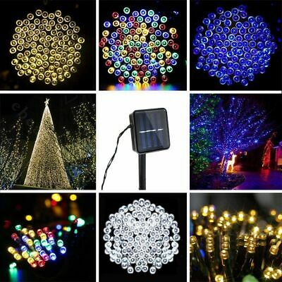 20-500 LED Solar Fairy Lights String Garden Indoor Outdoor Wedding Xmas Lights