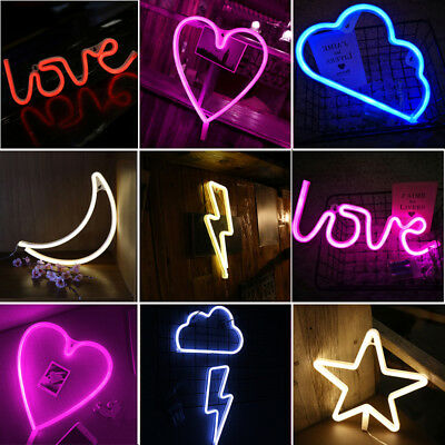 LED Neon Light Sign Wall Word Poster Background Wall Wedding Party Xmas Decor UK