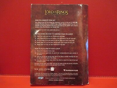 RARE PIN COLLECTION 18 Lord of the Rings FULL SET Collector Album Return of King