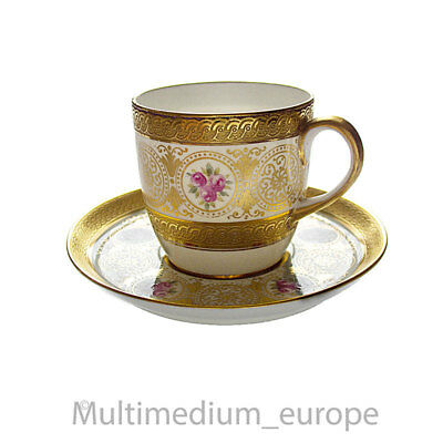 Antike Tiffany & Co Mocca Tasse Goldrand Unterteller cup saucer 🌺🌺🌺🌺🌺