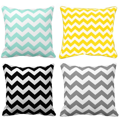 Pillow Cases, Nursery, Chevron Mint , Black, Yellow , Grey