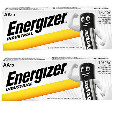 20 X Energizer Aa Industrial Battery Mn1500 Alkaline Replace Procell Expiry 2024