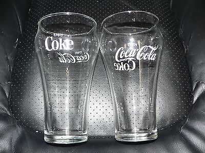 "COCA-COLA Drinking Glass: 6"" Clear Coke Soda Tumbler Cup (16 ounces)Very Nice."