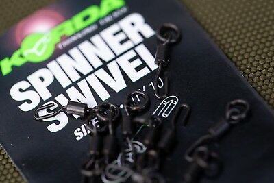 Korda Spinner Swivel Size 11 Pack of 10 Rig Ronnie Carp Coarse Fishing Accessory